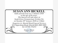 SUSAN ANN BICKELL