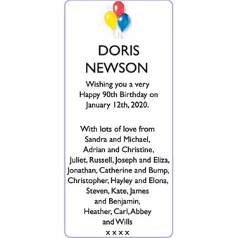 DORIS NEWSON