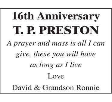 T P PRESTON