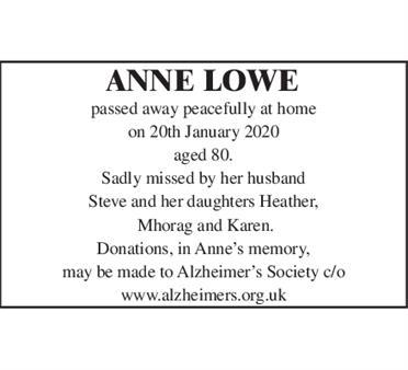 ANNE LOWE