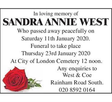 Sandra Annie West