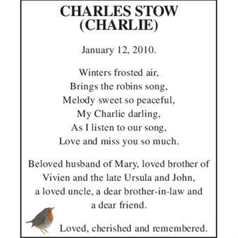CHARLES STOW (CARLIE)