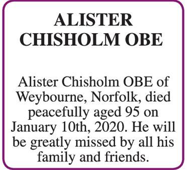 ALISTER CHISHOLM OBE