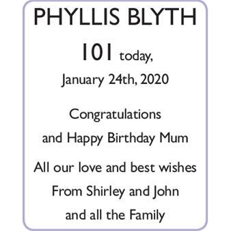 PHYLLIS BLYTH