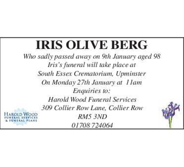 iris olive berg