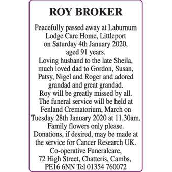 ROY BROKER