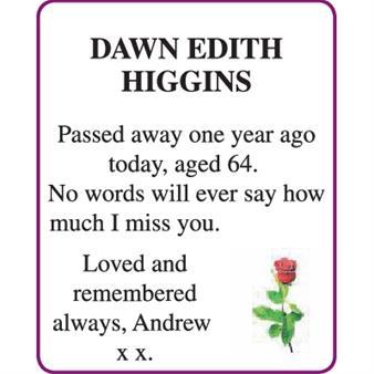 DAWN EDITH HIGGINS