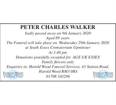 PETER CHARLES WALKER