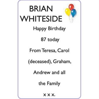 BRIAN WHITESIDE