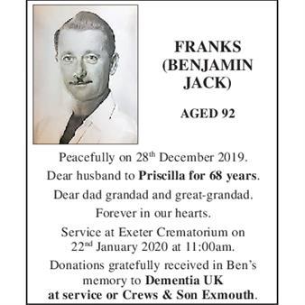 BENJAMIN JACK FRANKS