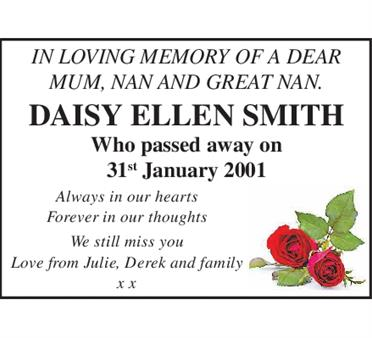 Daisy Ellen Smith