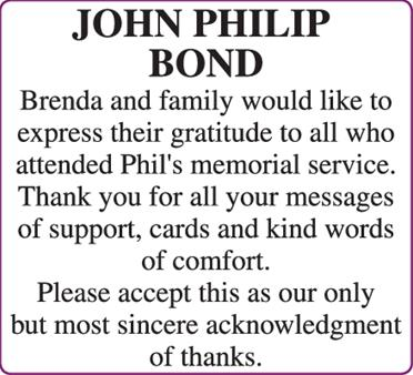JOHN PHILIP BOND