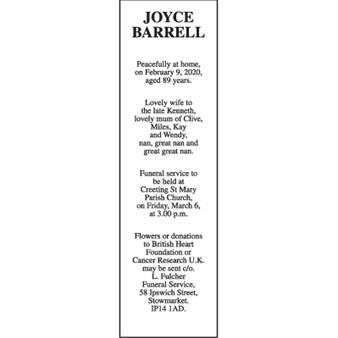JOYCE BARRELL