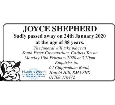 JOYCE SHEPHERD