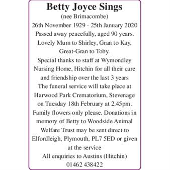Betty Joyce Sings