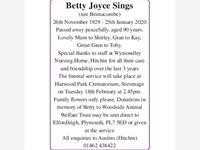 Betty Joyce Sings