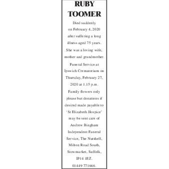 RUBY TOOMER