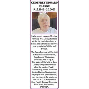 GEOFFREY EDWARD CLARKE