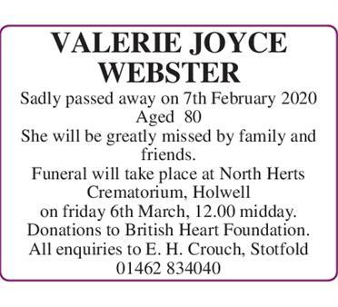 Valerie Joyce Webster