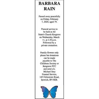 BARBARA RAIN
