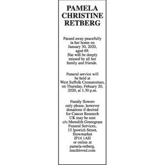 PAMELA CHRISTINE RETBERG