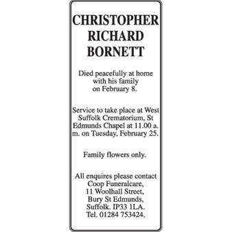 Christopher Richard Bornett