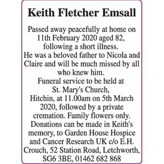 Keith Fletcher Emsall
