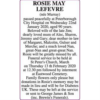 ROSIE MAY LEFEVRE