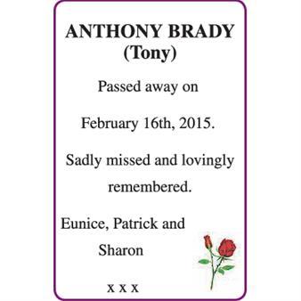 ANTHONY BRADY (Tony)