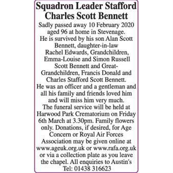 Squadren Leader Stafford Charles Scott Bennett