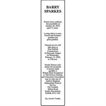 BARRY SPARKES
