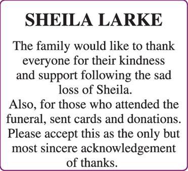 SHEILA LARKE