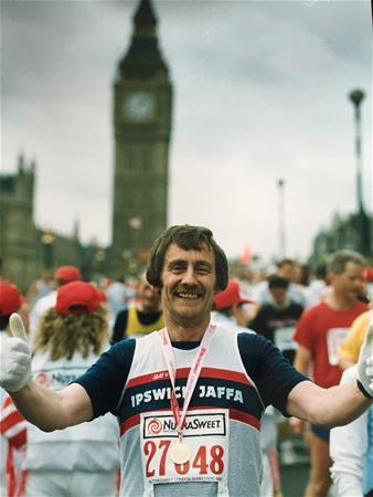 Ron, London Marathon 1993
