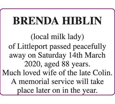 BRENDA HIBLIN