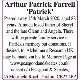 Arthur Patrick Farrell 'Patrick'