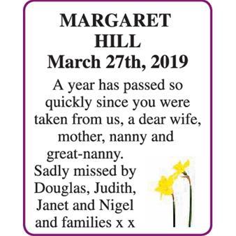MARGARET HILL