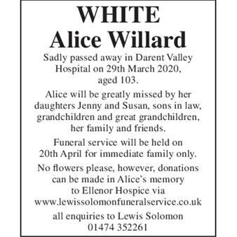 Alice Willard White