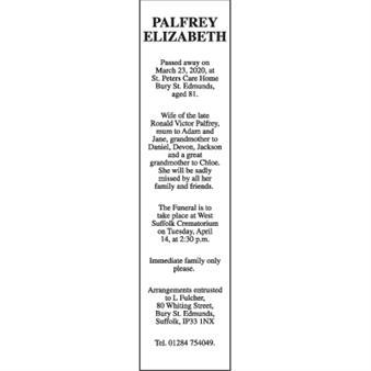 ELIZABETH PALFREY