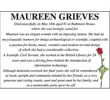 MAUREEN GRIEVES