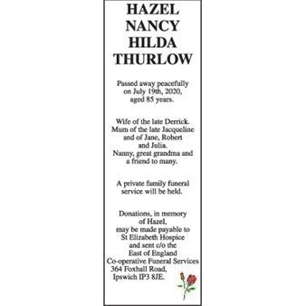 HAZEL NANCY HILDA THURLOW