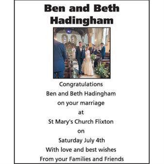 Ben and Beth Hadingham