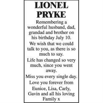 LIONEL PRYKE