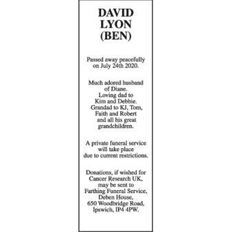 DAVID LYON (BEN)