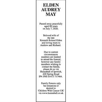 AUDREY MAY ELDEN
