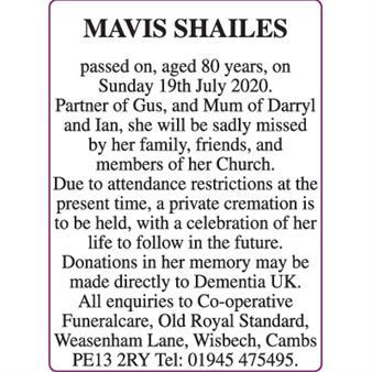 MAVIS SHAILES
