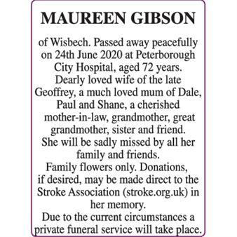 MAUREEN GIBSON