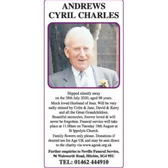 ANDREWS CYRIL CHARLES