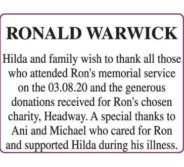 WARWICK - RONALD