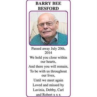 BARRY BEE BESFORD