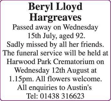Beryl Hargreaves
